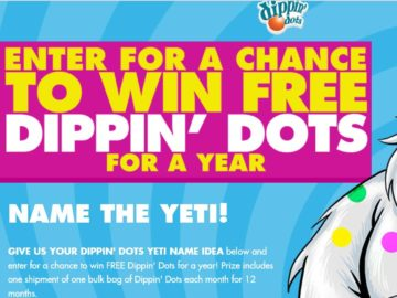 The DIPPIN' DOTS NAME THE YETI – GIVE US YOUR NAME Promotion