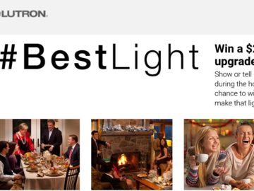 The Lutron Holiday Inspirations: #BestLight Sweepstakes