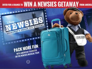 The Newsies Getaway from American Tourister Sweepstakes