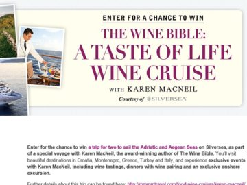 The TASTE OF LIFE CRUISE Sweepstakes