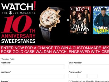 The CBS Watch! Magazine 10th Anniversary Sweepstakes