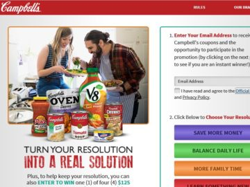 "Campbell's ""RealSolutions"" Instant Win Game"
