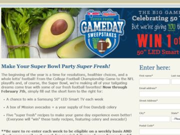 Super Fresh Game Day Sweepstakes