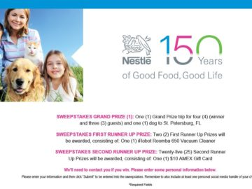 Nestle 150th Anniversary Sweepstakes