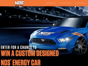 NOS Energy Drink 'Fire Up'  Sweepstakes
