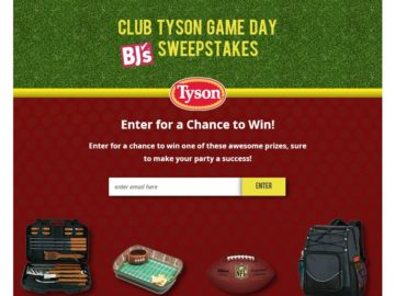 TheClub Tyson Game Day@ BJ'S Sweepstakes