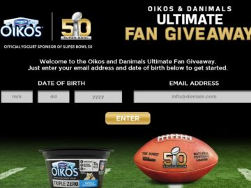 The DANNON OIKOS NFL Sweepstakes