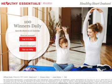 HEALTHY ESSENTIALS Healthy Start Instant Win Sweepstakes