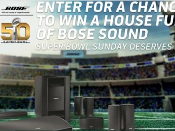 "The Bose ""Super Bowl Sunday Deserves Bose"" Sweepstakes"