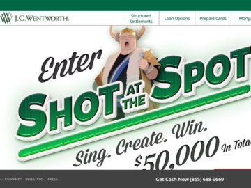J.G. Wentworth 'Shot at the Spot' Contest and Sweepstakes