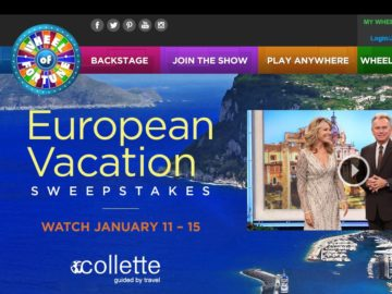 The Wheel of Fortune European Vacation Sweepstakes