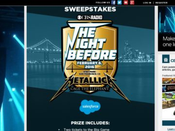 The Radio.com Night Before Sweepstakes