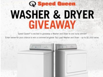 Speed Queen Washer & Dryer September Giveaway Sweepstakes