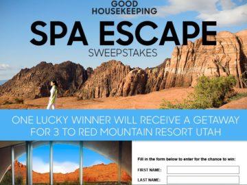 Good Housekeeping Red Mountain Resort Utah Sweepstakes