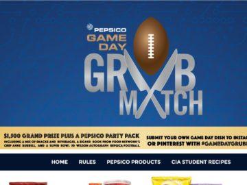 The PepsiCo #gamedaygrubmatch Contest