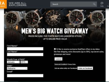 Sierra Trading Post Men's Big Watch Giveaway Sweepstakes