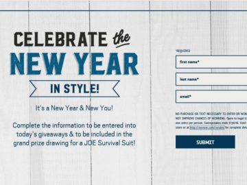 The Men's Warehouse 2016 Celebrate the New Year Sweepstakes