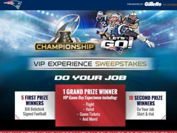 2015 Patriots Let's Go AFC Championship Sweepstakes