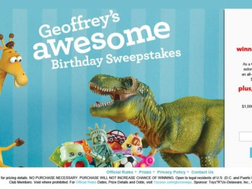 "Toys""R""Us Geoffrey's Birthday Sweepstakes"