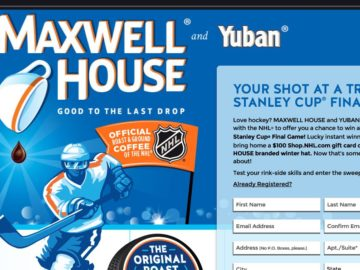 The Maxwell House Ultimate Hockey Fan Sweepstakes