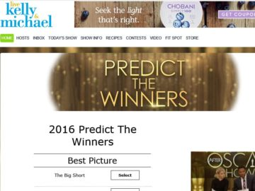 LIVE Kelly and Michael Predict the Winners Sweepstakes