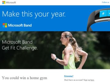Microsoft Band Get Fit Challenge Sweepstakes