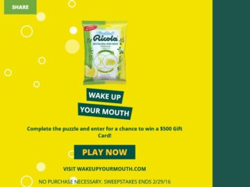 The Ricola Wake Up Your Mouth Sweepstakes