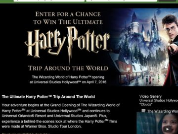The TripAdvisor Ultimate Harry Potter Trip Around the World Sweepstakes