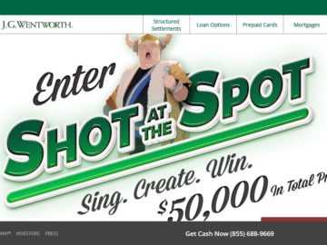 J.G. Wentworth 'Shot at the Spot' Sweepstakes