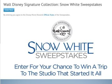 The Walt Disney Signature Collection: Snow White Sweepstakes