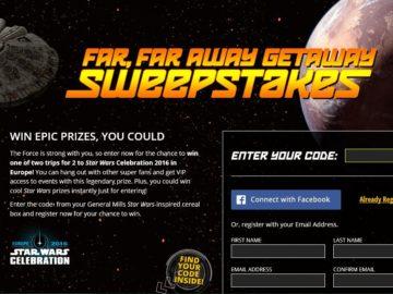 Star Wars Far, Far Away Getaway Sweepstakes