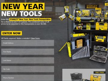 The STANLEY New Year, New Tool Sweepstakes