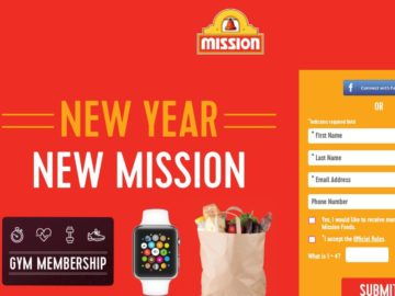 Mission New Year, New Mission Sweepstakes