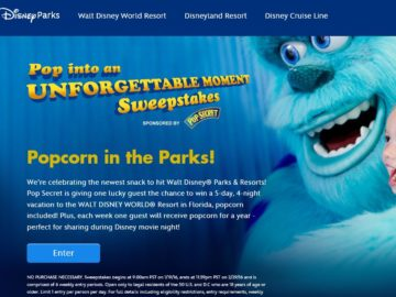 Disney Pop into an Unforgettable Moment Sweepstakes