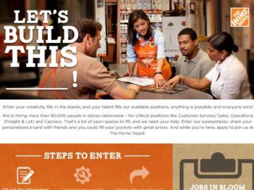 The Home Depot Let's Build This Sweepstakes