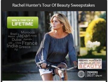 Ovation TV Rachel Hunter's Tour of Beauty Sweepstakes