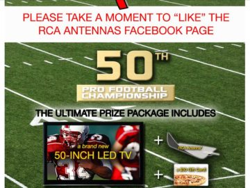 "Voxx International – RCA Antenna's ""50th Pro Football Championship"" Sweepstakes"