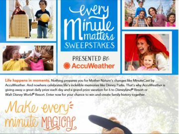 The AccuWeather Every Minute Matters Sweepstakes