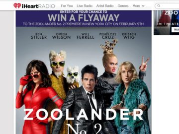 iHeartRadio Flyaway to the Zoolander 2 Premiere in NYC! Sweepstakes