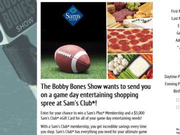 The Bobby Bones Show's Sam's Club Game Day Sweepstakes