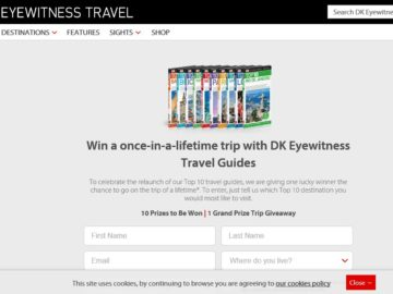 Once-In-A-Lifetime Trip With DK Eyewitness Travel Guides Sweepstakes