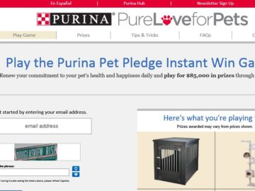 The Purina Pet Pledge Instant Win Game Sweepstakes