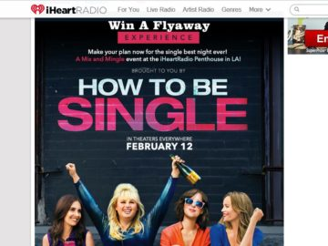 iHeartRadio & Warner Bros. How To Be Single Sweepstakes