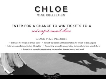 Chloe Wine Collection 2016 Red Carpet Sweepstakes