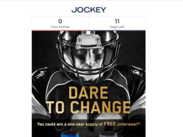 One Year of Jockey Underwear Sweepstakes