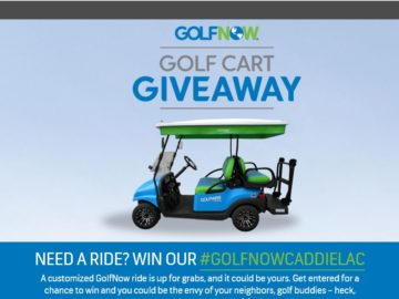 The Golfnow Golf Cart Giveaway Sweepstakes