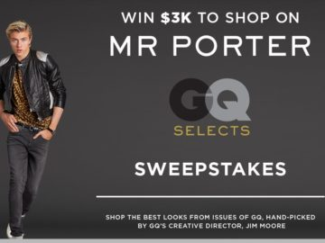 GQ x MR Porter Sweepstakes