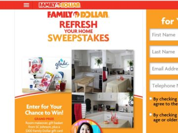 The Family Dollar Home Refresh Sweepstakes