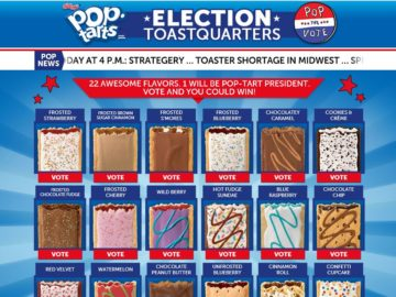 The Kellogg's Pop-Tarts Pop the Vote Online Sweepstakes