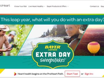 Bayer Extra Day Project Sweepstakes
